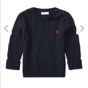 Ralph Lauren Cable-Knit Combed Cotton Sweater